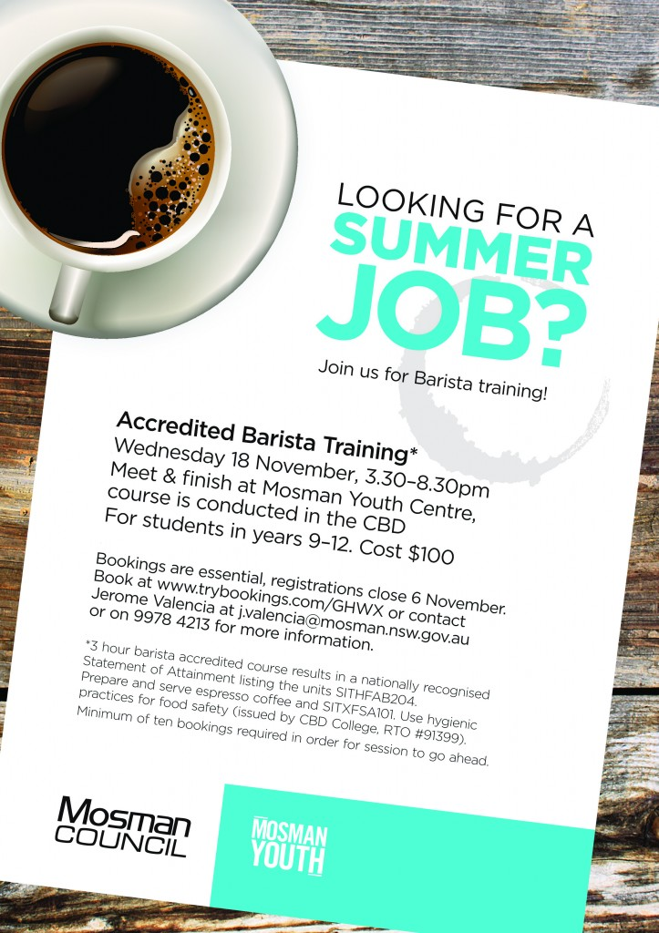 Barista Training Poster