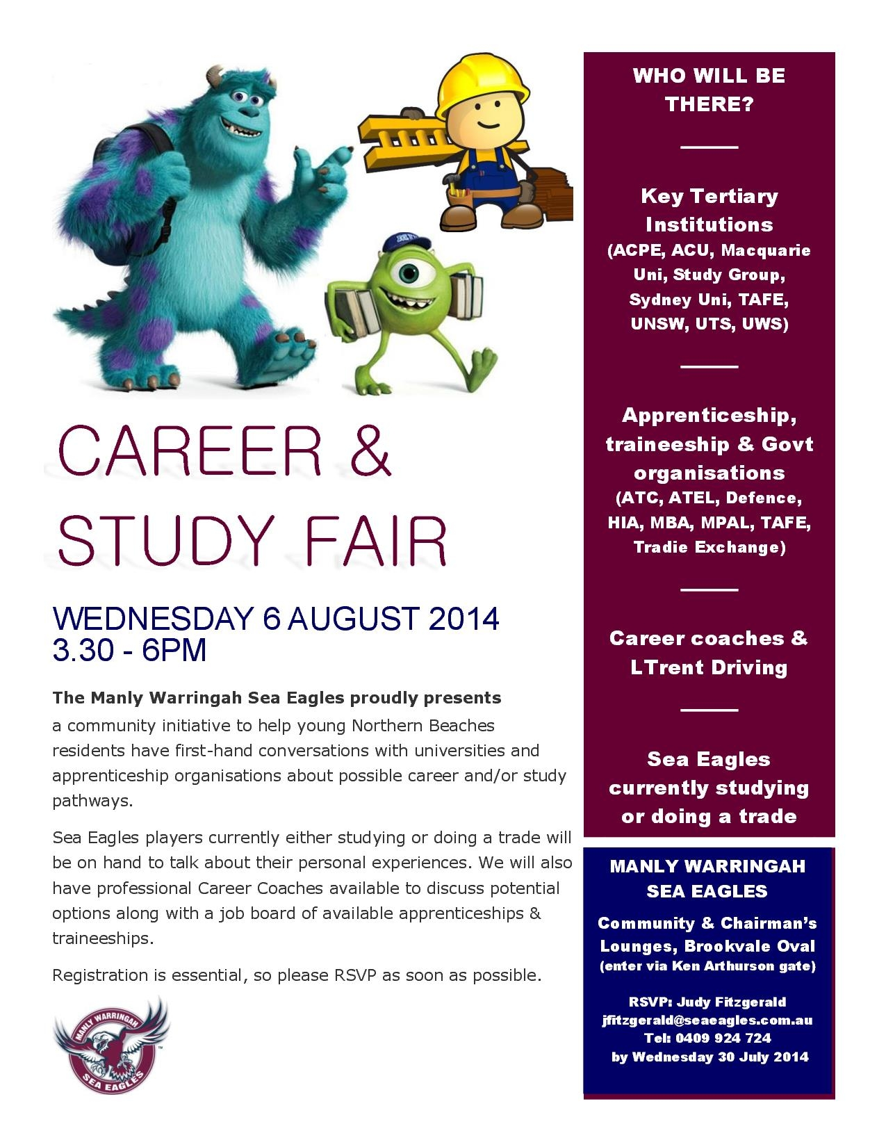 Career  Study Fair flyer